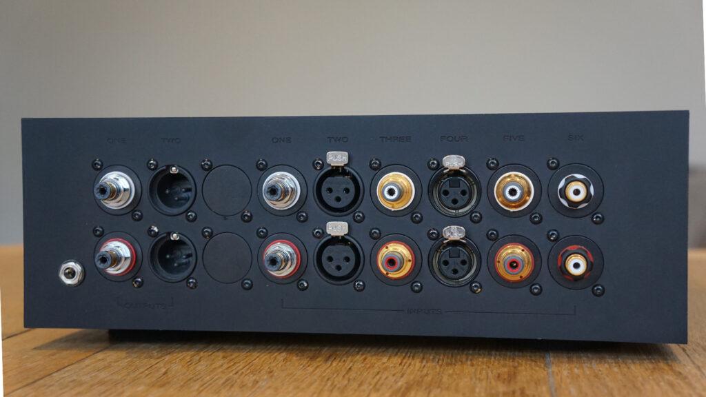 Bespoke Audio preamp rear panel